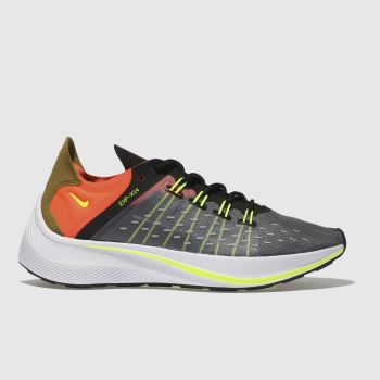 NIKE BLACK & ORANGE EXP-14 TRAINERS
