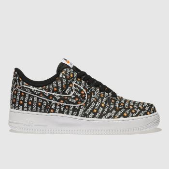 Nike Black & White Air Force 1 07 Lv8 Jdi Womens Trainers