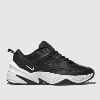 nike black & white m2k tekno trainers