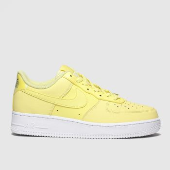 Nike Yellow Air Force 1 07 Essential Womens Trainers