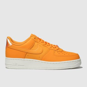 uk availability c37fe 92805 Nike Orange Air Force 1 07 Essential Womens Trainers