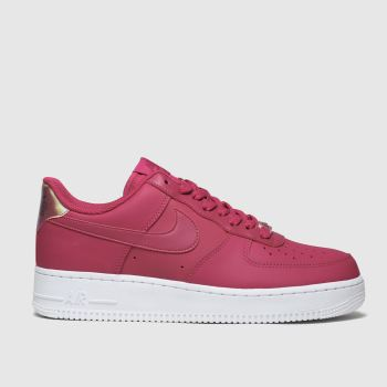 Nike Red Air Force 1 07 Essential Womens Trainers