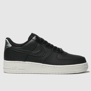 nike black air force 1 07 essential trainers