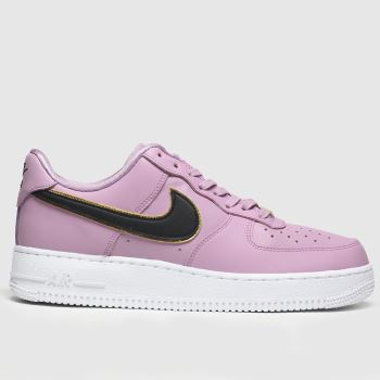 nike pink & black air force 1 07 essential trainers