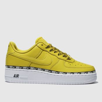 Nike Yellow Air Force 1 07 Se Premium Womens Trainers