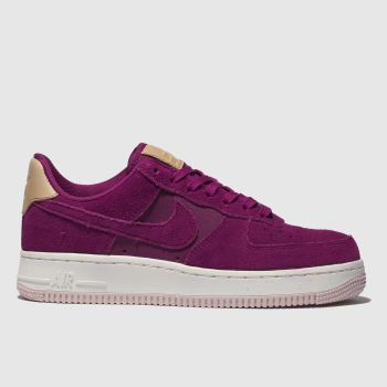 finest selection cd748 cd9ac Nike Pink Air Force 1 07 Se Premium Womens Trainers