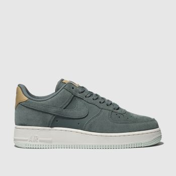 Nike Green Air Force 1 07 Se P Womens Trainers