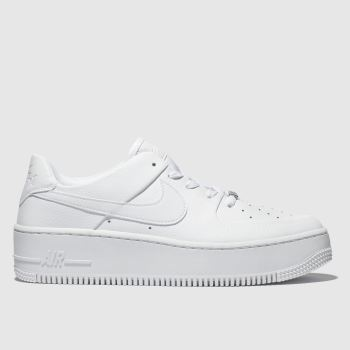 Nike White Air Force 1 Sage Low c2namevalue::Womens Trainers