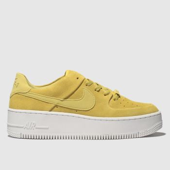 Nike Gelb Air Force 1 Sage Low Damen Sneaker