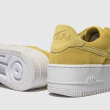702749ebd womens yellow nike air force 1 sage low trainers