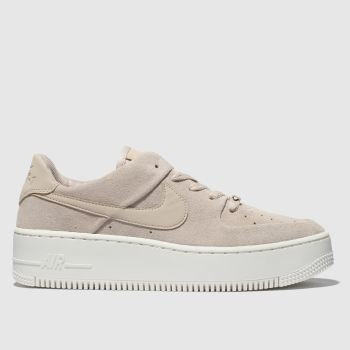 low priced db3a9 8bf8c Nike Pale Pink Air Force 1 Sage Low Womens Trainers
