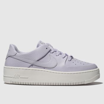 Nike Blaulila Air Force 1 Sage Low Damen Sneaker