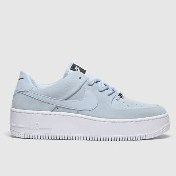 Nike Pale Blue Air Force 1 Sage Low Womens Trainers