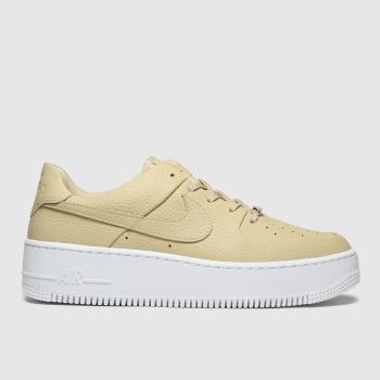 Nike Beige Air Force 1 Sage Low Damen Sneaker
