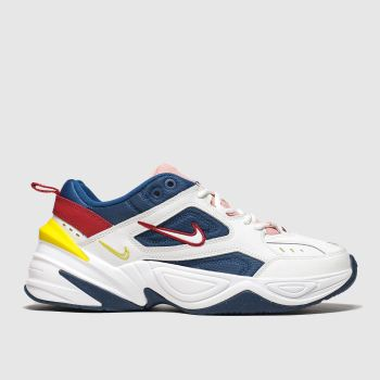 Nike White & Navy M2k Tekno Womens Trainers