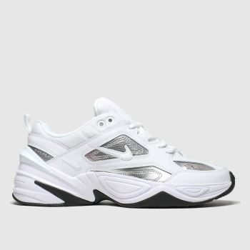 nike white & silver m2k tekno trainers