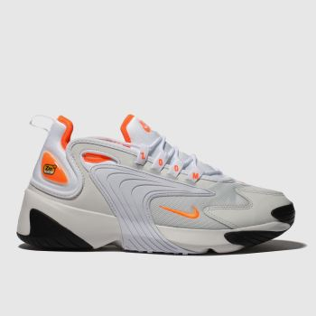 Nike White & Orange Zoom 2k Womens Trainers#