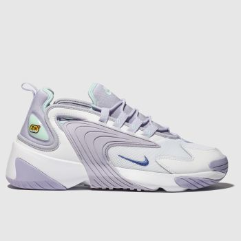 Nike White & Purple Zoom 2K Womens Trainers