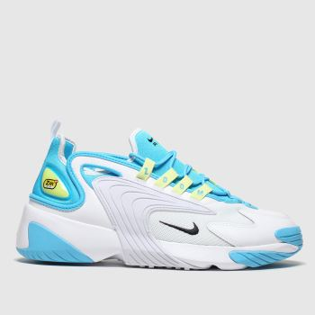 nike white & pl blue zoom 2k trainers