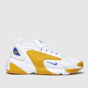 nike white & yellow zoom 2k trainers