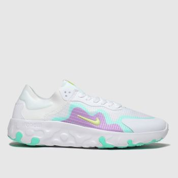 Nike White & Purple Renew Lucent Womens Trainers from Schuh