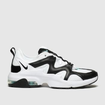 nike white & black air max graviton trainers