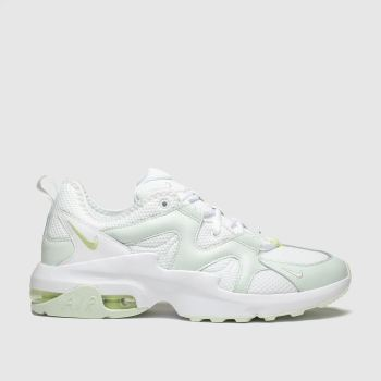 Nike white & green air max graviton trainers
