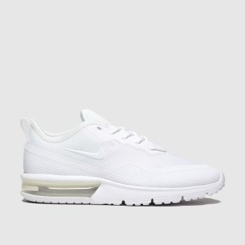 nike white air max sequent 4.5 trainers