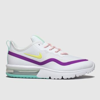 Nike White & Pink Air Max Sequent 4.5 Womens Trainers