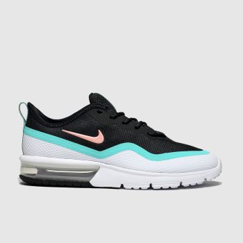 nike black and blue air max sequent 4.5 trainers