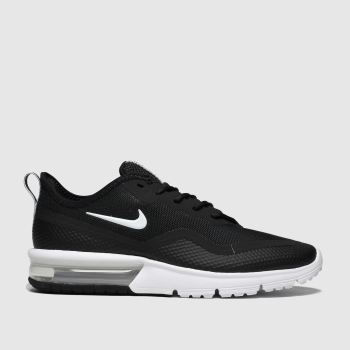 Nike Black & White Air Max Sequent 4.5 Womens Trainers