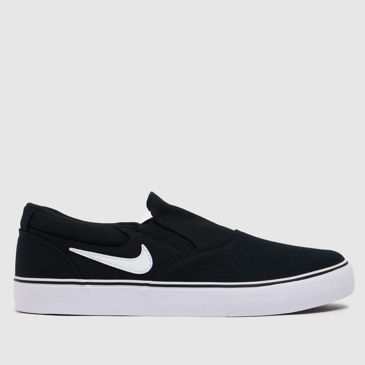 Nike SB Black & White Chron 2 Slip Trainers