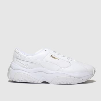 Puma White Storm.y Womens Trainers