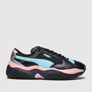 Puma Black and blue Storm.y Womens Trainers