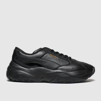 Puma Black Storm.y Womens Trainers