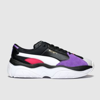 Puma Black & Purple Storm.Y Womens Trainers