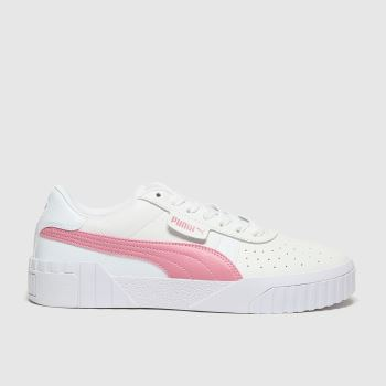 PUMA White Cali Womens Trainers