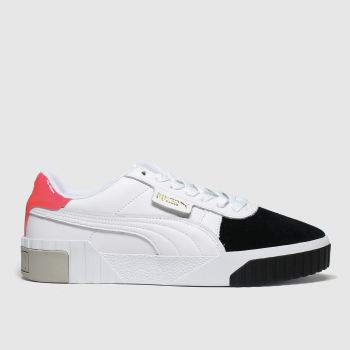 Puma White & Black Cali Remix Trainers