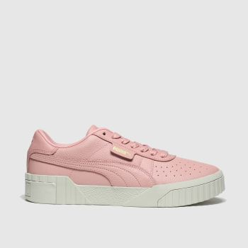 Puma Pale Pink Cali Emboss c2namevalue::Womens Trainers