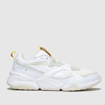 womens white puma nova 2 trainers | schuh