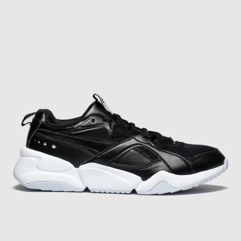 Puma Black & White Nova 2 Trainers