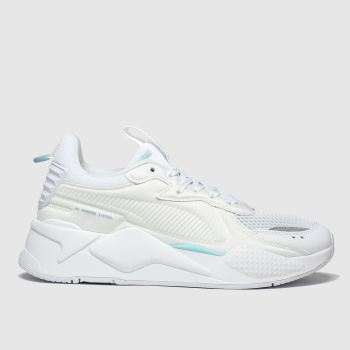 Puma White & Pl Blue Rs-x Soft C Ase Trainers