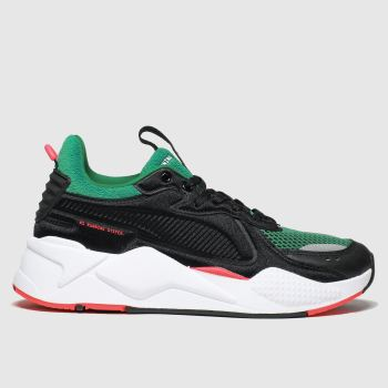 Puma Black & Green Rs-x Soft C Ase Trainers