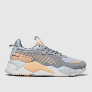 Puma White & Pl Blue Rs-x Reinvent Trainers