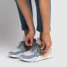 puma white & pl blue rs x reinvent trainers