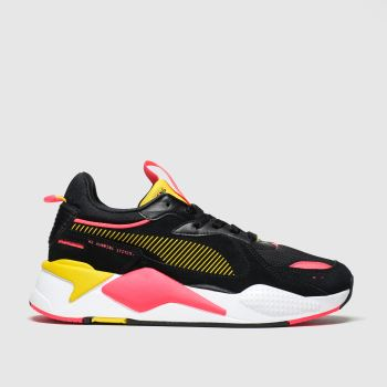 Puma Black & pink Rs-x Reinvent Trainers