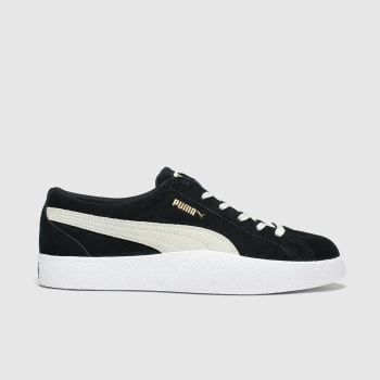 PUMA Black & White Love Wns Trainers