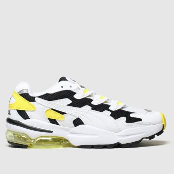 PUMA White & Yellow Cell Alien Og Trainers