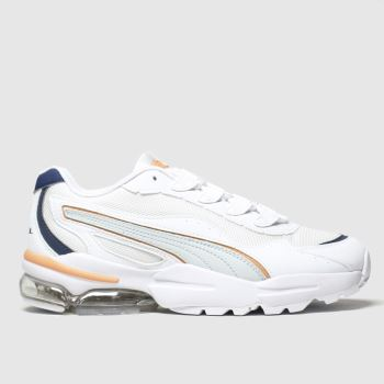 PUMA White & Orange Cell Stellar Womens Trainers