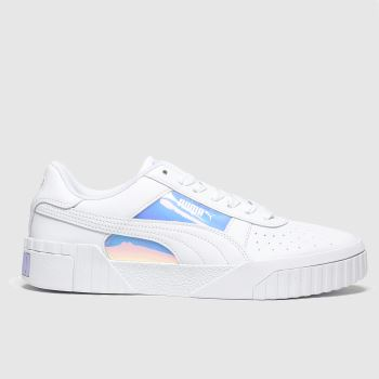 PUMA White Cali Glow Womens Trainers#